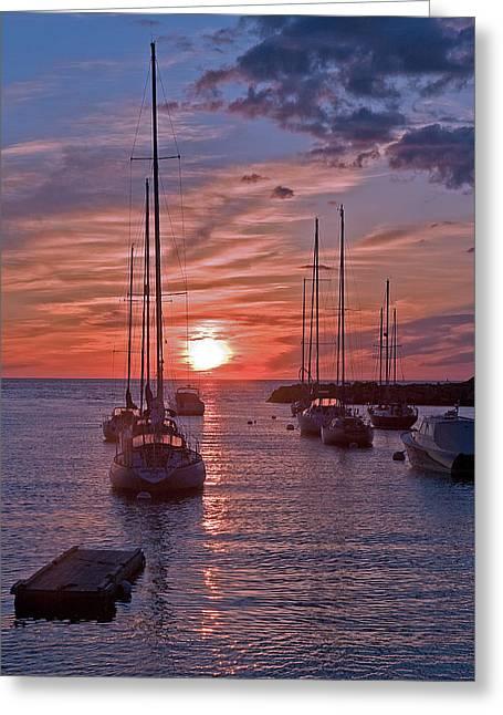 Cape Ann Sunrise Greeting Card by Robert Pilkington