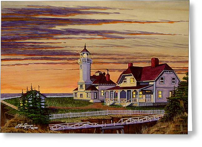 Pen And Ink Framed Prints Greeting Cards - Cape Arago Greeting Card by James Lyman