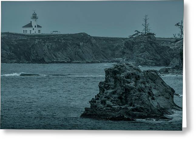 Cape Arago Light Greeting Card