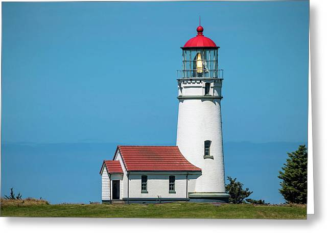 Greeting Card featuring the photograph Cape Blanco Lighthouse At Cape Blanco, Oregon by John Hight