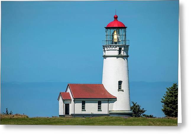 Cape Blanco Lighthouse At Cape Blanco, Oregon Greeting Card