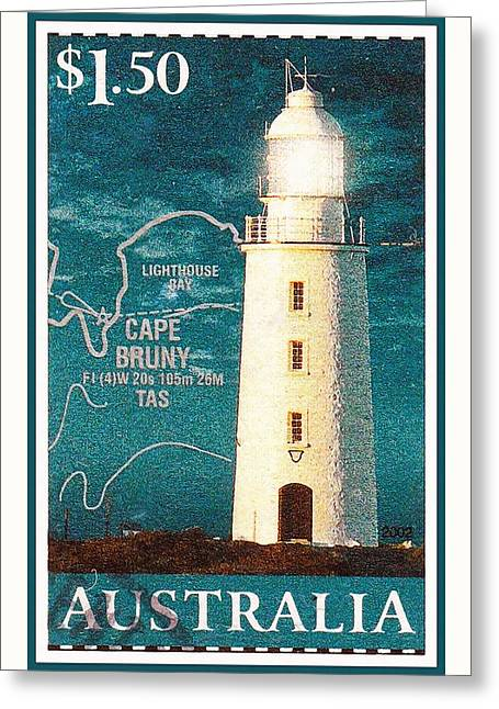Cape Bruny Lighthouse Greeting Card by Lanjee Chee