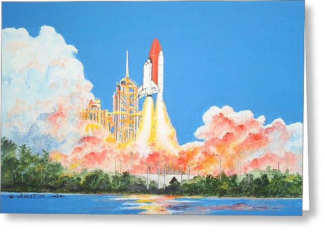 Cape Canaveral Greeting Card by Dennis Vebert
