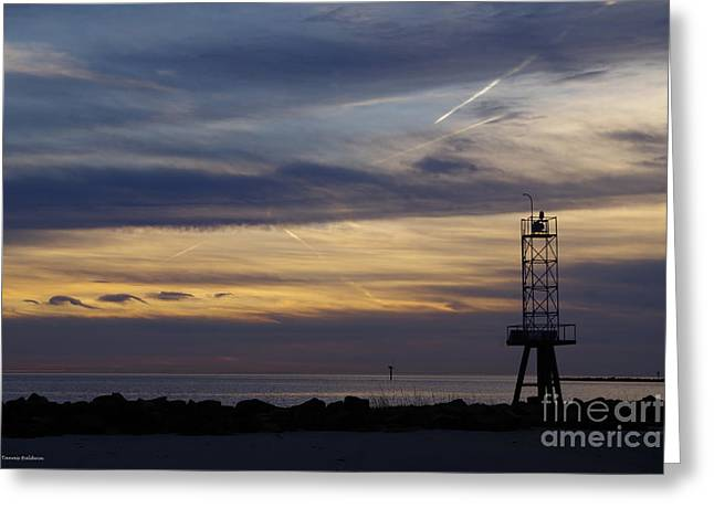 Cape Charles Sunset Greeting Card by Tannis Baldwin
