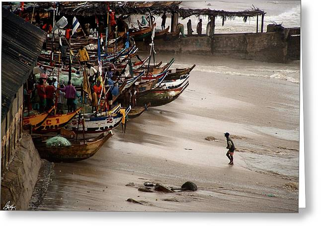 Cape Coast Storm Greeting Card