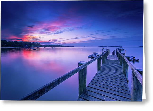 Cape Cod Art Sunrise On Pleasant Bay In July Greeting Card