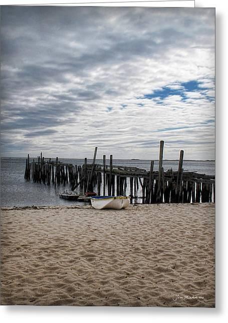 Cape Cod Bay Greeting Card by Joan  Minchak