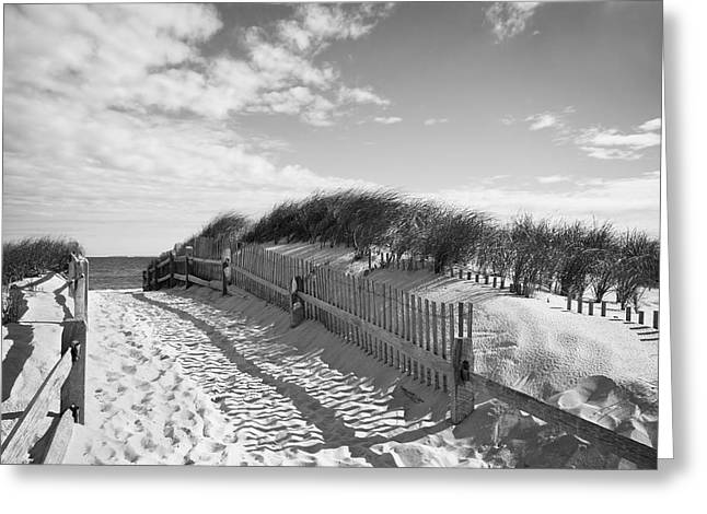 Cape Cod Beach Entry Greeting Card by Mircea Costina Photography