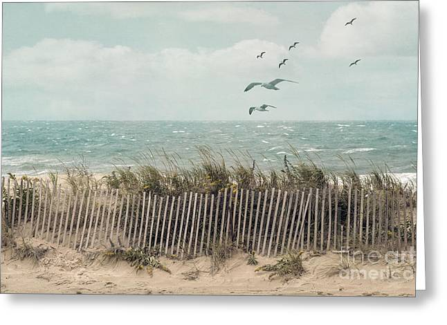 Cape Cod Beach Scene Greeting Card by Juli Scalzi
