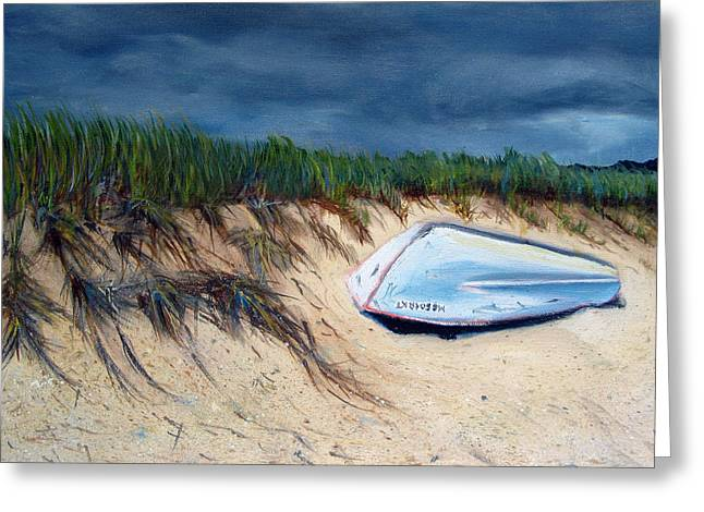 Cape Cod Boat Greeting Card by Paul Walsh