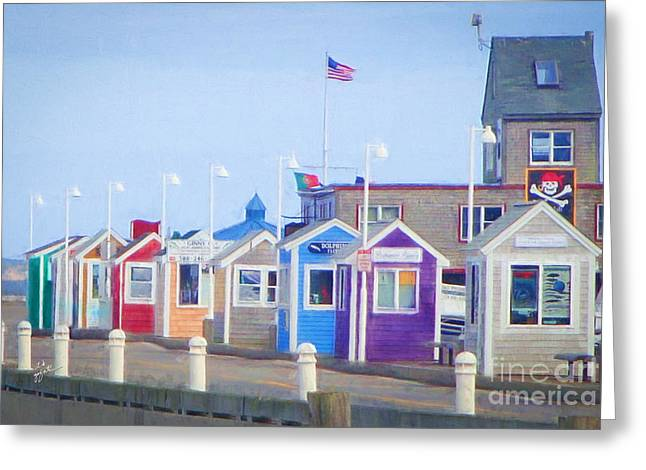 Cape Cod Cabins Greeting Card