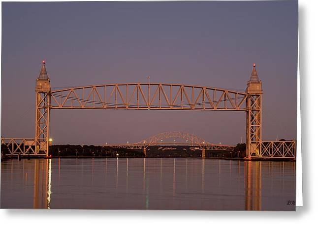 Cape Cod Canal Bridges II Color Greeting Card by David Gordon