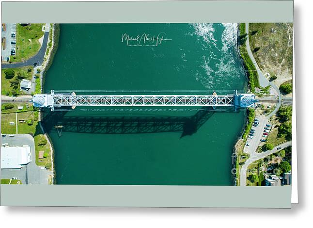 Greeting Card featuring the photograph Cape Cod Canal Railroad Bridge by Michael Hughes
