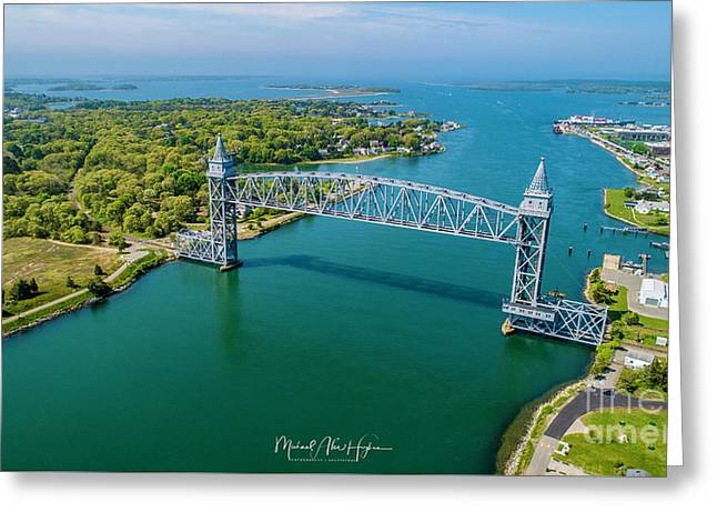 Cape Cod Canal Railroad Greeting Card