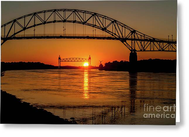 Cape Cod Canal Sunset Greeting Card