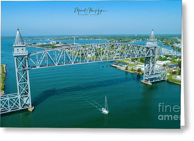 Cape Cod Canal Suspension Bridge Greeting Card