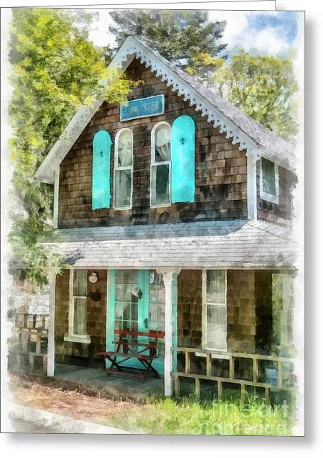 Cape Cod Cottage Cba Greeting Card by Edward Fielding