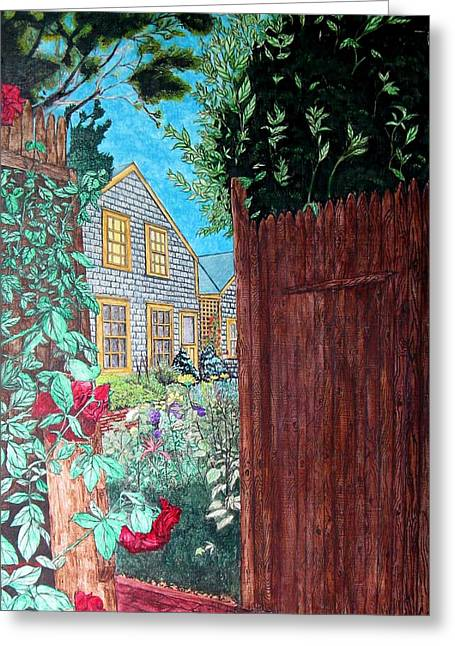 Cape Cod Cottage Greeting Card by Joshua Armstrong