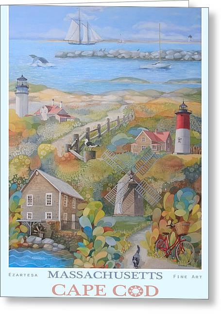 Cape Cod Greeting Card by Ezartesa Art