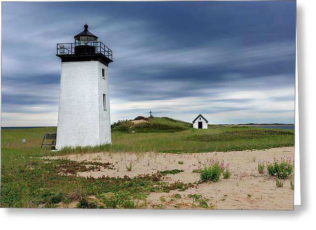 Cape Cod Long Point Lighthouse Greeting Card by Bill Wakeley