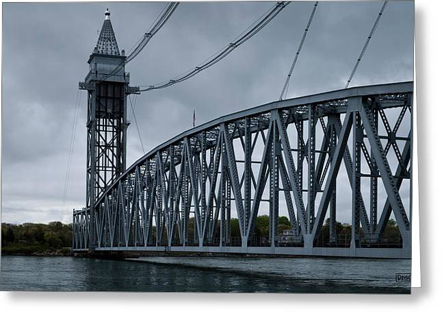Cape Cod Railroad Bridge No. 1 Greeting Card by David Gordon