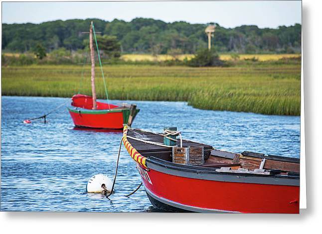Cape Cod Red Boat Chatham Ma Greeting Card by Toby McGuire