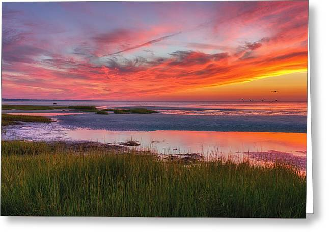 Cape Cod Skaket Beach Sunset Greeting Card