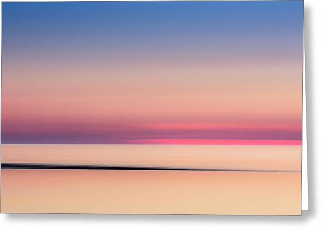 Cape Cod Sunset Colors Greeting Card by Bill Wakeley