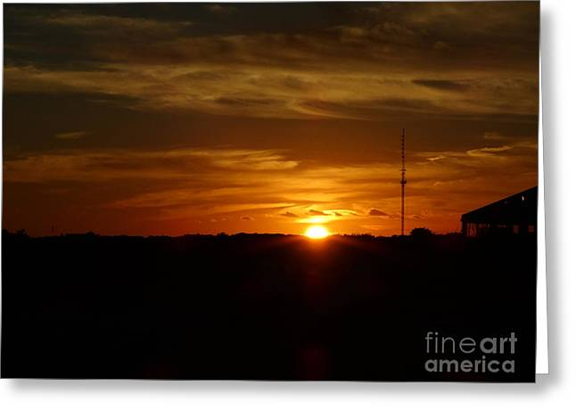 Cape Cod Sunset Greeting Card by Gina Sullivan