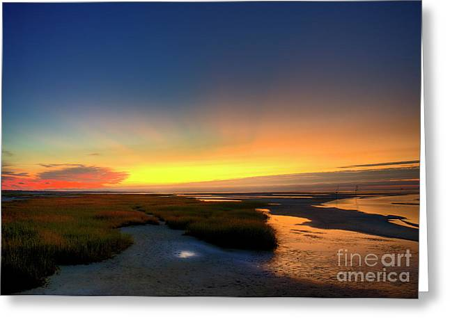 Cape Cod Sunset Greeting Card by John Greim