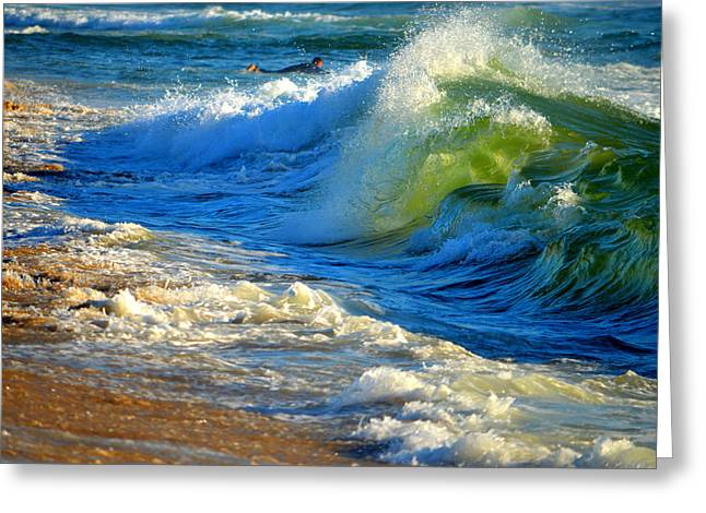 Cape Cod Surf Greeting Card by Dianne Cowen