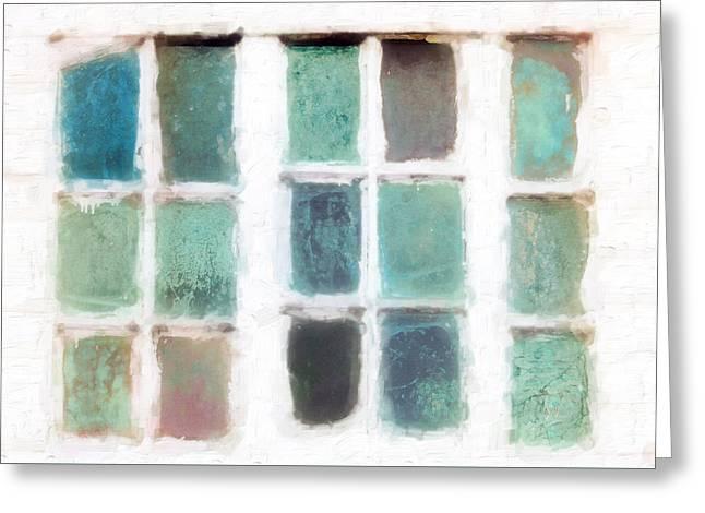 Cape Cod Windows Greeting Card by Hal Halli