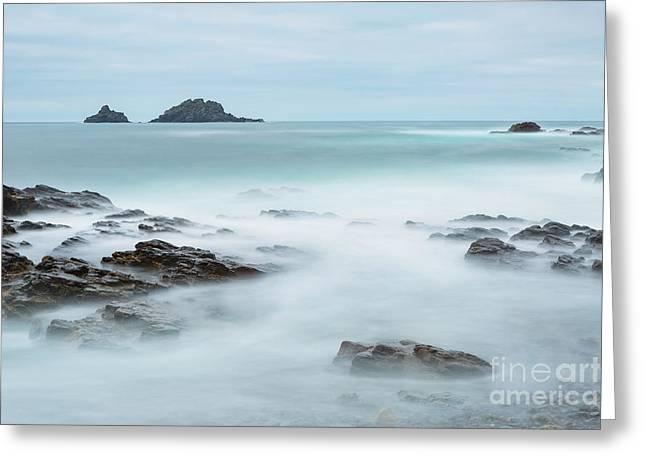 Cape Cornwall - Long Exposure Greeting Card