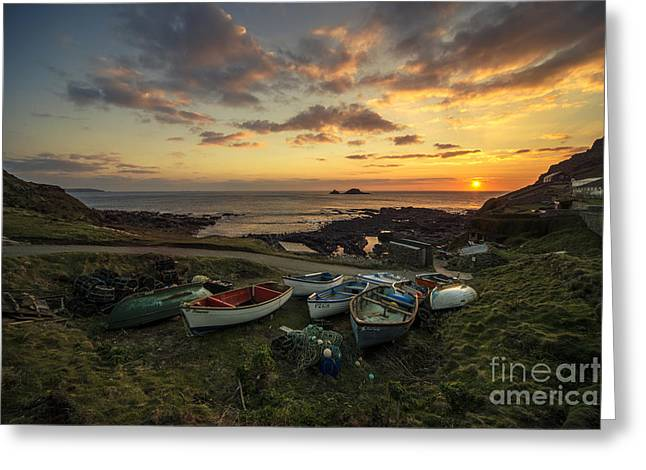 Cape Cornwall Twylight Greeting Card