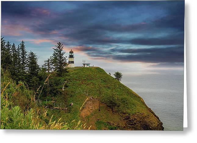 Cape Disappointment After Sunset Greeting Card by David Gn