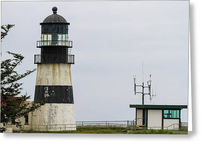Cape Disappointment Lighthouse Closeup Greeting Card by David Gn