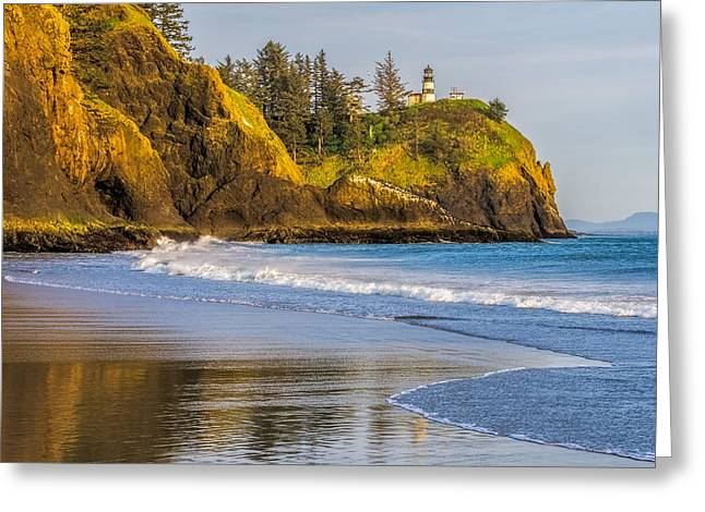 Cape Disappointment Lighthouse Greeting Card by Ken Stanback