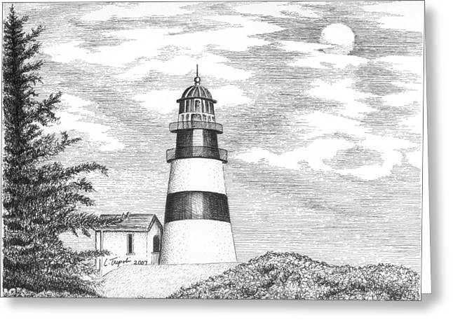 Cape Disappointment Lighthouse Greeting Card