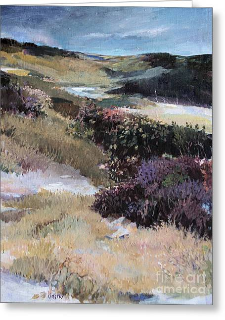 Greeting Card featuring the painting Cape Dune by Diane Ursin