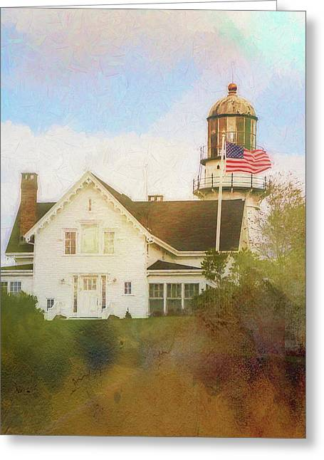 Cape Elizabeth Lighthouse 2 Greeting Card by Terry Davis