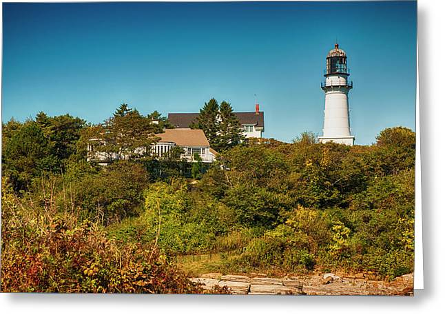 Cape Elizabeth Lighthouse Greeting Card