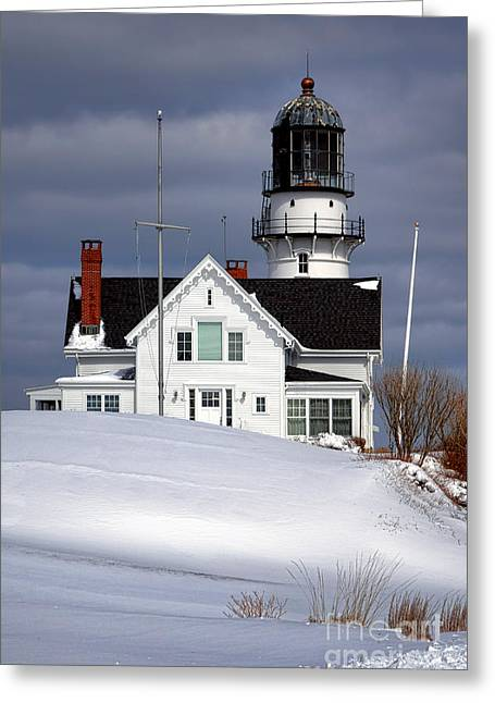 Cape Elizabeth Lighthouse Greeting Card by Olivier Le Queinec