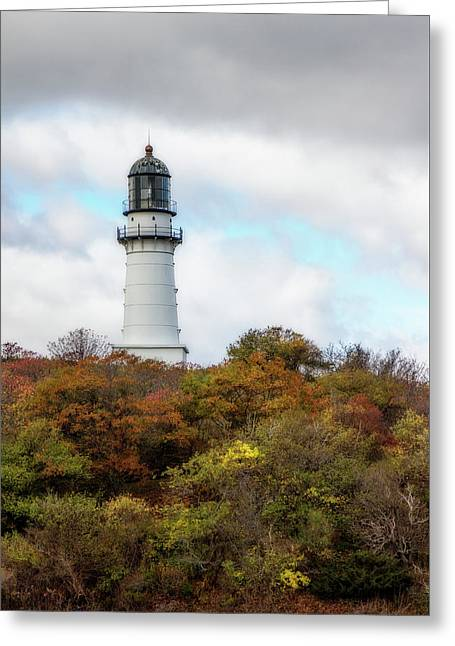 Cape Elizabeth Lighthouse Greeting Card by Terry Davis