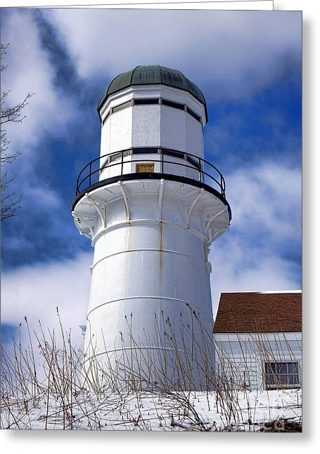Cape Elizabeth Western Lighthouse Greeting Card by Olivier Le Queinec