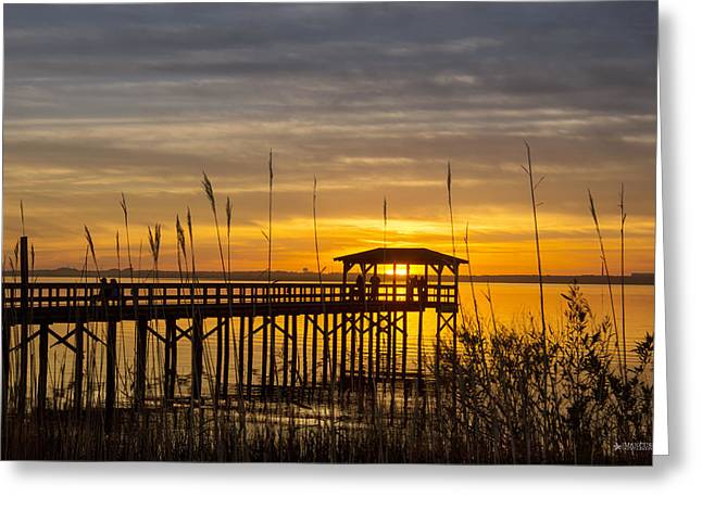 Cape Fear Sunset Fort Fisher Greeting Card