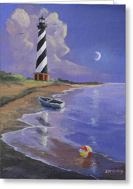 Cape Hatteras Lighthouse Greeting Card by Jerry McElroy