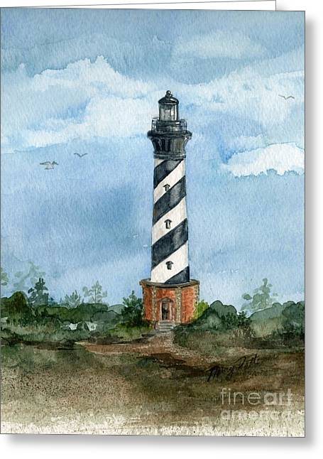 Cape Hatteras Lighthouse  Greeting Card by Nancy Patterson