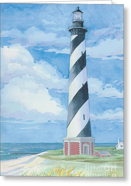 Cape Hatteras Lighthouse Greeting Card by Paul Brent
