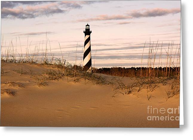 Greeting Card featuring the photograph Cape Hatteras Lighthouse by Tony Cooper