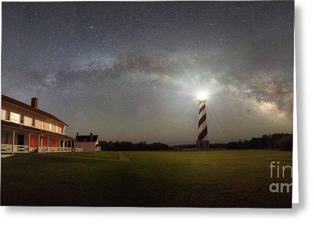 Cape Hatteras Milky Way Panorama  Greeting Card